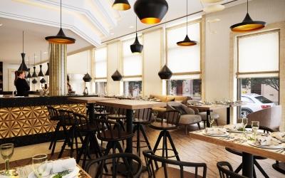 Araz étterem belsőépítészeti látványtervek