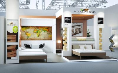 Biotextima kiállítási stand 3d látványtervek