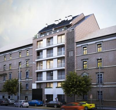 Újépítésű társasház látványtervek Budapest belvárosában