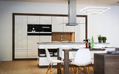 Modern minimal konyha design terv