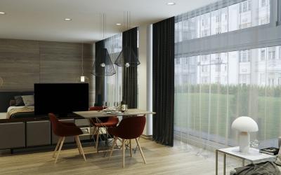 nappali, konyha, étkező VR látványtervek