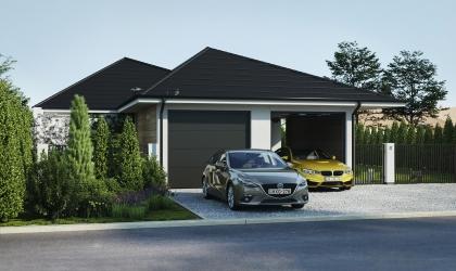 Újépítésű energiahatékony családi ház látványtervek