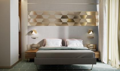 Exclusive hotelszoba belsőépítészeti látványtervek