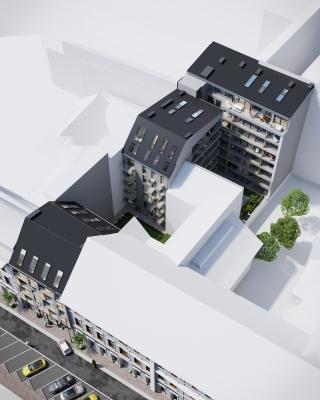 3DVisionDesign.hu Kiraly Boutique Residence homlokzati 3d latvanyterv