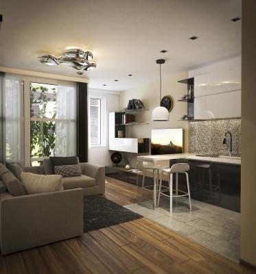 Újépítésű társasház látványtervek ingatlan értékesítés céljából.